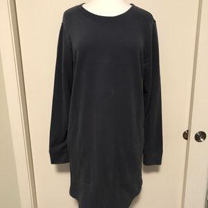 GAP Body steel blue sweatshirt dress.